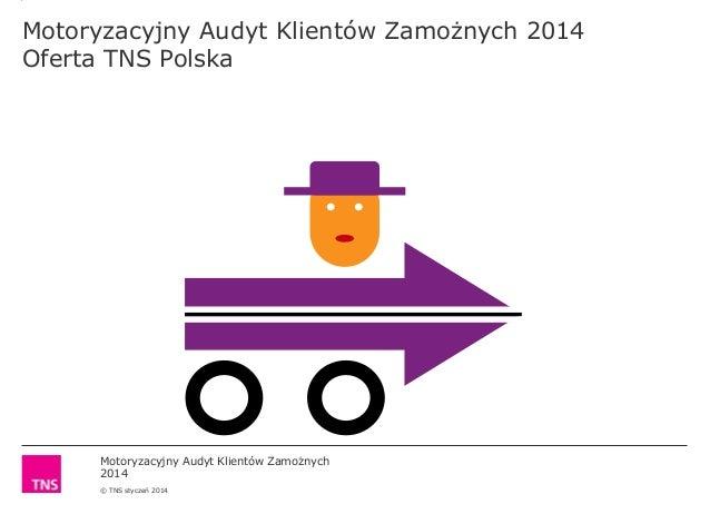 Motoryzacyjny Audyt Klientów Zamożnych 2014 © TNS styczeń 2014 Motoryzacyjny Audyt Klientów Zamożnych 2014 Oferta TNS Pols...