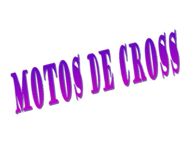 MOTOS DE CROSS