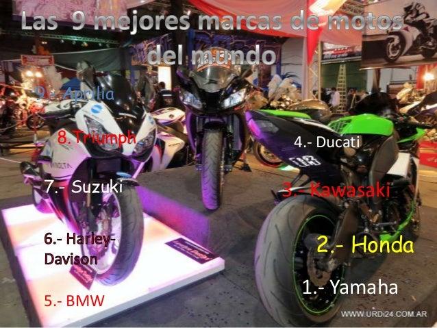 9.- Aprilia 8.Triumph 7.- Suzuki 5.- BMW 4.- Ducati 3.- Kawasaki 2.- Honda 1.- Yamaha