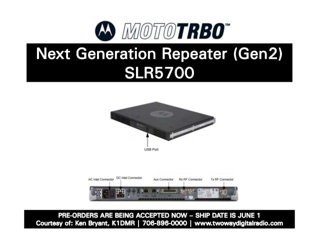 Motorola MotoTRBO Next Generation Repeater SLR5700