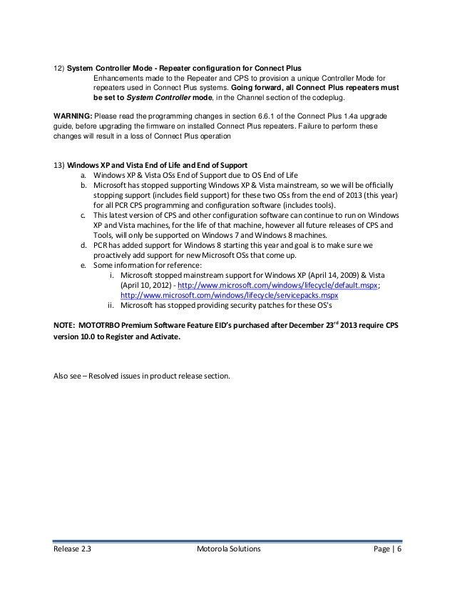Motorola MotoTRBO Firmware 2 3 Release Notes (November 2013)