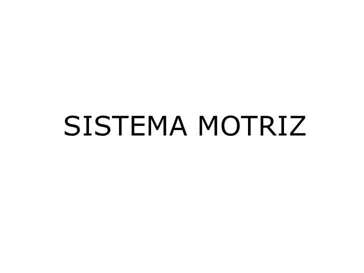 SISTEMA MOTRIZ