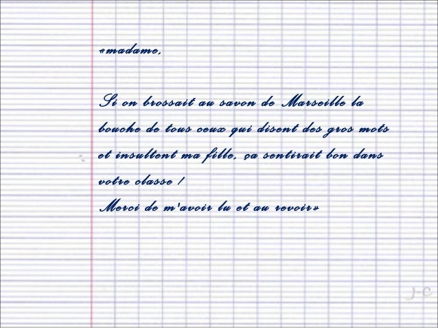 lettre excuse absence ecole
