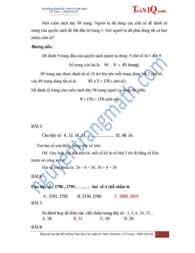 MỘT SỐ BÀI TOÁN VỀ DÃY SỐ - SỐ TRANG Slide 3