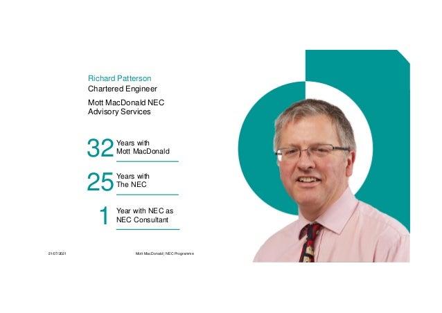 NEC Contracts - Programmes under ECC and PSC webinar Slide 2