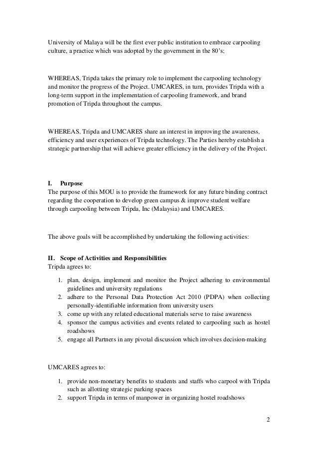 Memorandum of understanding mou pronofoot35fo Gallery