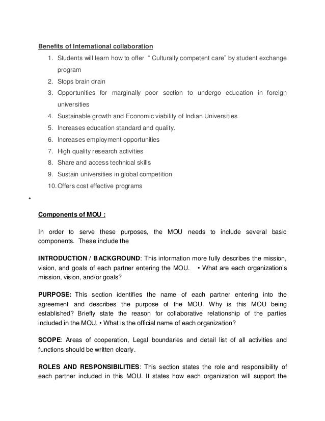Memorandum of understanding indian and foreign universities nursin address transactional or global problem 4 spiritdancerdesigns Image collections
