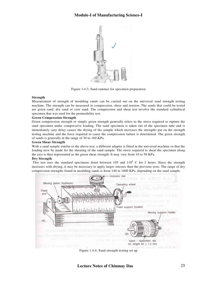 properties of moulding sand pdf