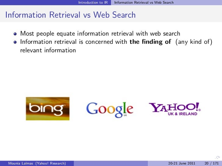 information retrieval Pdf | information retrieval (ir) has changed considerably in the last years with the expansion of the web (world wide web) and the advent of modern and inexpensive graphical user interfaces and.