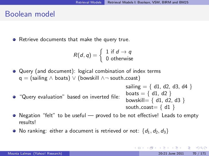 Introduction to Information Retrieval & Models