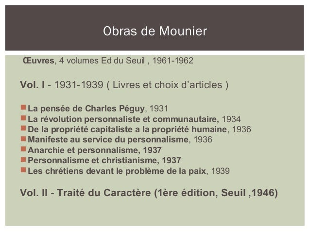 mounier emmanuel manifeste au service du personnalisme filetype pdf