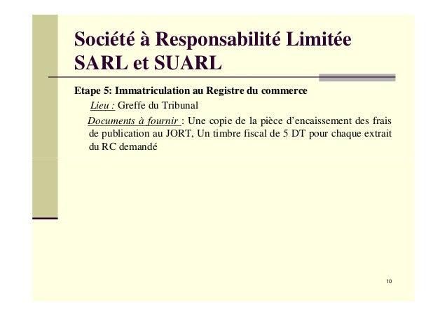 Conf rence mounir hbaieb choix juridique et constitution - Greffe du tribunal de commerce de salon de provence ...