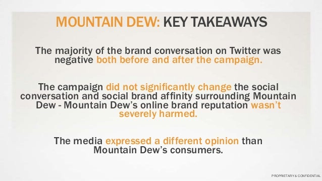 mountain dew and harvard Mountain dew case study mountain dew, is a yellowish green sugar rich drink with a relatively high degree of caffeine pepico, took over this product in 1964 in an .