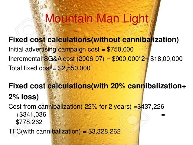 contribution margin mountain man brewing