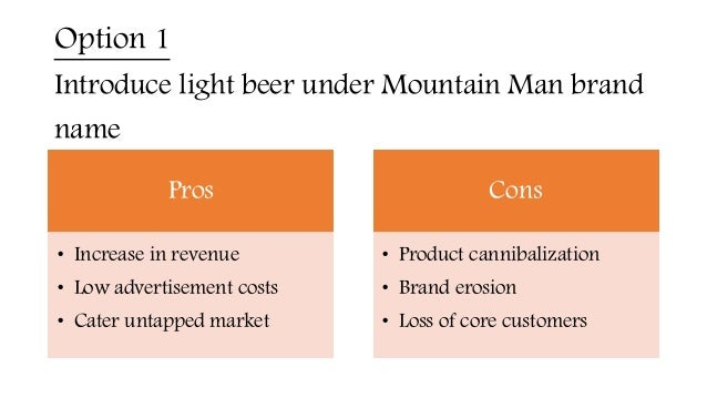 """mountain man brewing company case analysis essay Mountain man brewing company case analysis katia herrera dr barksdale mk4900 june 23, 2014 mountain man brewing company case analysis situation analysis industry """"the beer industry in the united states generates $75 billion in annual sales"""" (abelli, 4) light beer sales have increased at a compound annual rate of 4% over the previous ."""