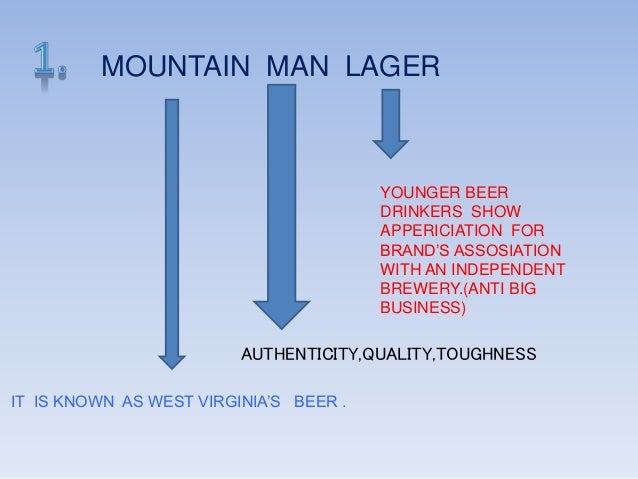 mountain man brewery Free essay: jeff dickinson bus 656 case write up #2 mountain man brewing company problem statement mountain man lagers main customer is an older generation.