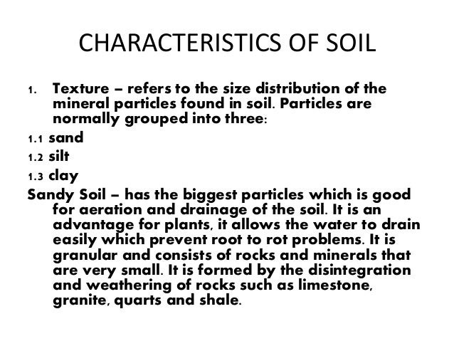 Mountains for Different types of soil and their characteristics