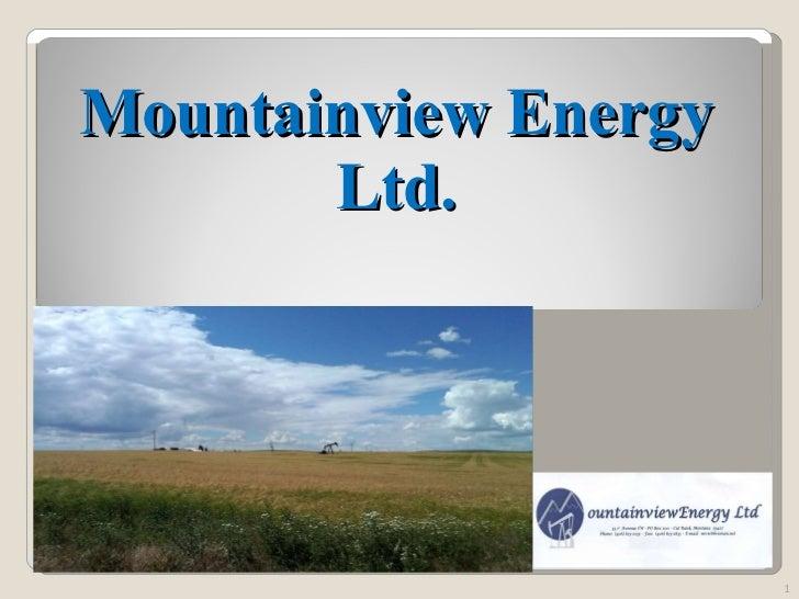 Mountainview Energy Ltd.