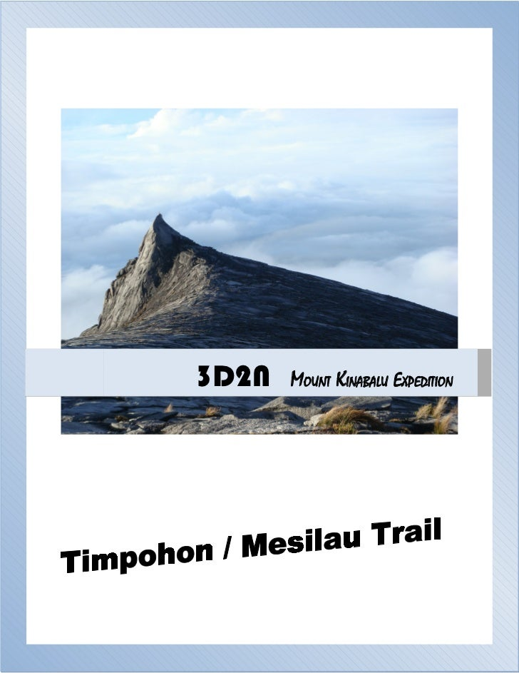 3D2N   MOUNT KINABALU EXPEDITION