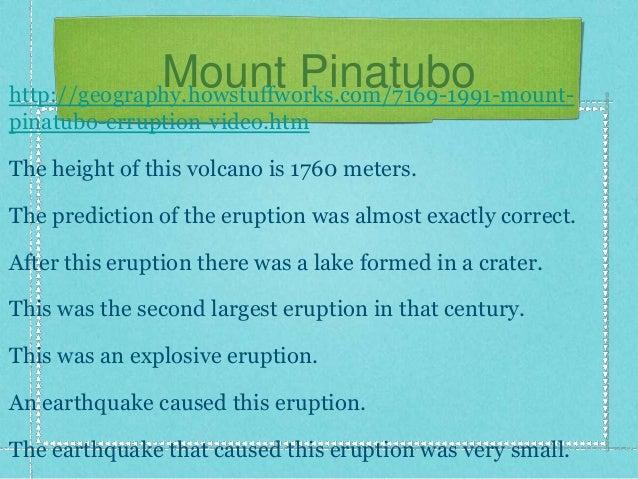 Mount Pinatubo: A Long Kept Fury Unleashed Essay