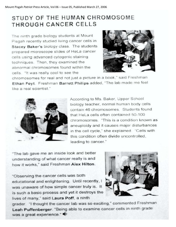 Mount Pisgah Patriot Press Article, Vol 06 – Issue 05, Published March 27, 2006<br />