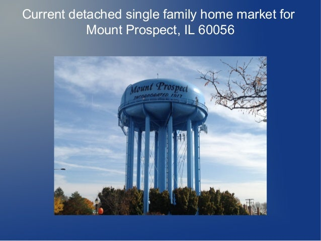 Current detached single family home market for Mount Prospect, IL 60056