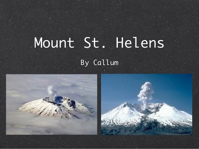 Mount St. Helens By Callum