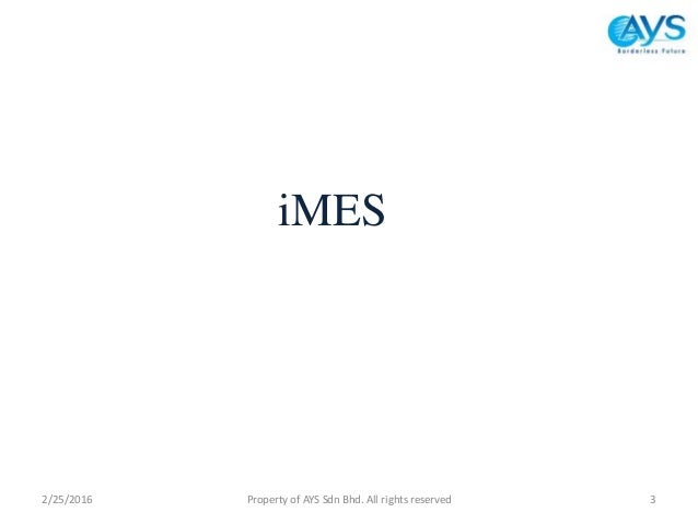 Award winning AYS launched iMES to assist SMEs to go international Slide 3