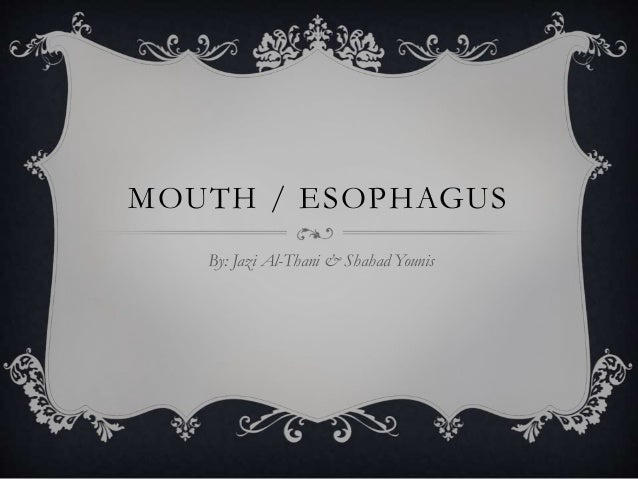 MOUTH / ESOPHAGUS By: Jazi Al-Thani & Shahad Younis