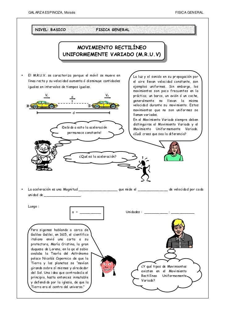 GAL ARZA ESPINOZA, Moisés                                                                FISIC A GENERAL    NIVEL: BASICO ...