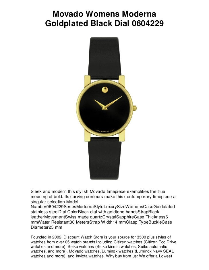 Free shipping stylish brand modern Fashion Movado Womens Moderna Goldplated Black Dial 0604229 Free Shipping Lowest Price Guarantee Slideshare Movado Womens Moderna Goldplated Black Dial 0604229 Free Shipping u2026