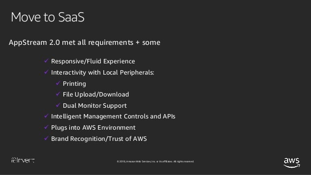 Move to SaaS: Deliver Desktop Apps with Amazon AppStream 2 0
