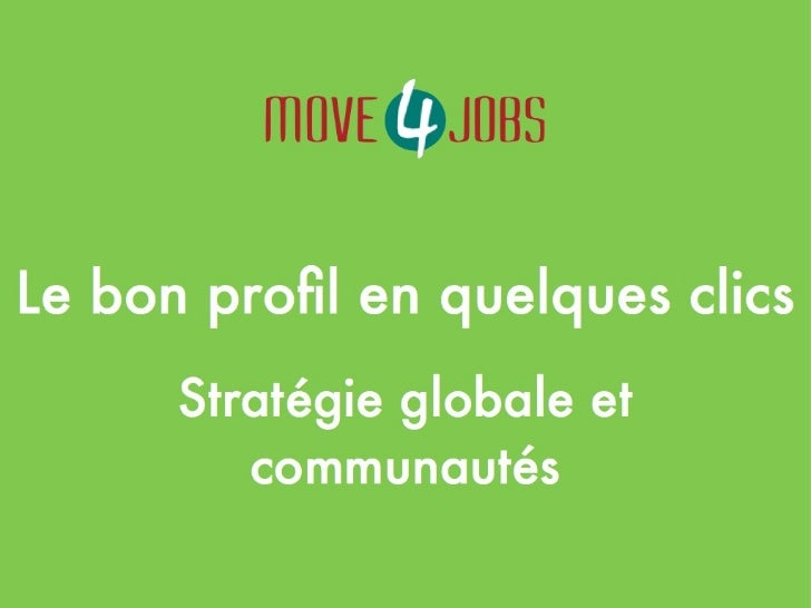 MOVE4JOBS - EVENT 1 : Présentation Christelle Letist