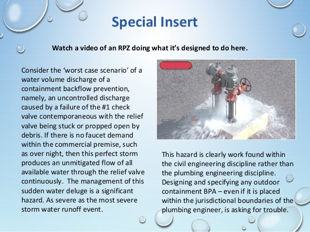 Backflow Prevention: Let the Civil Engineer Deal With It