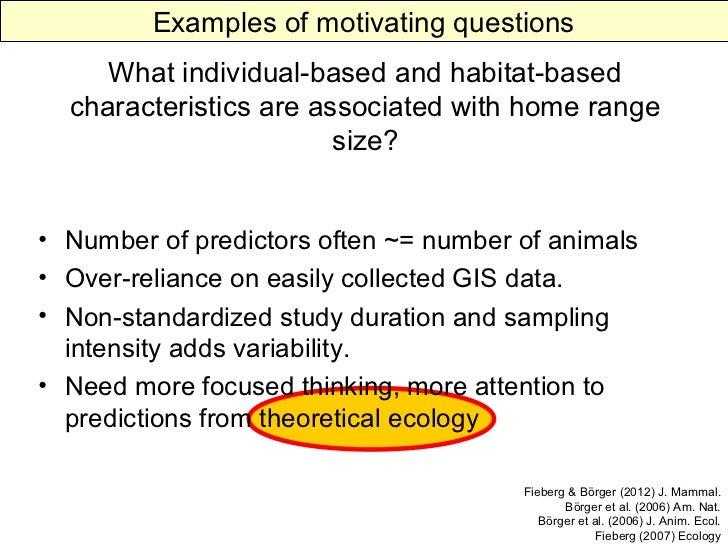 Statistical Home Range Estimation