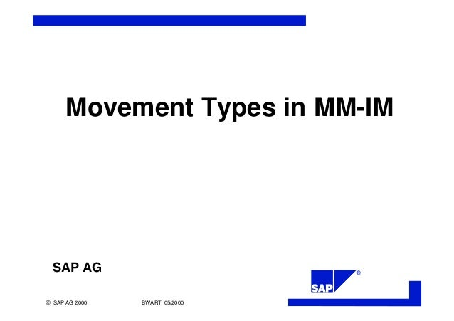 Movement Types In Sap Mm