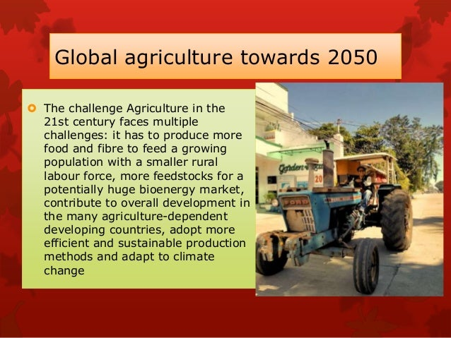Food demand and production  World population is expected to grow by over a third, or 2.3 billion people, between 2009 and...