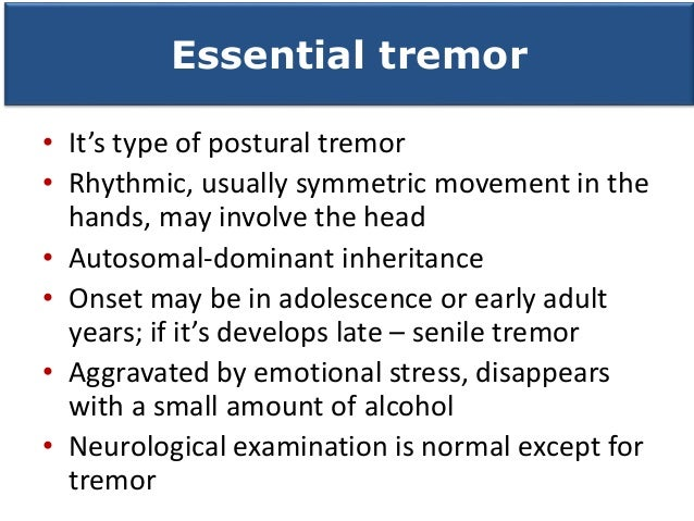 Mysoline For Essential Tremor