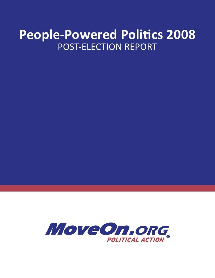 People-Powered Politics 2008       POST-ELECTION REPORT
