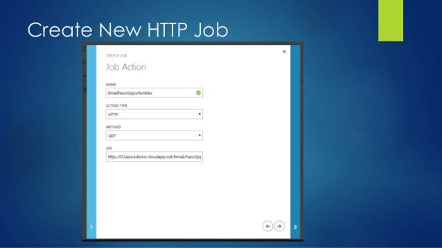 Create New HTTP Job