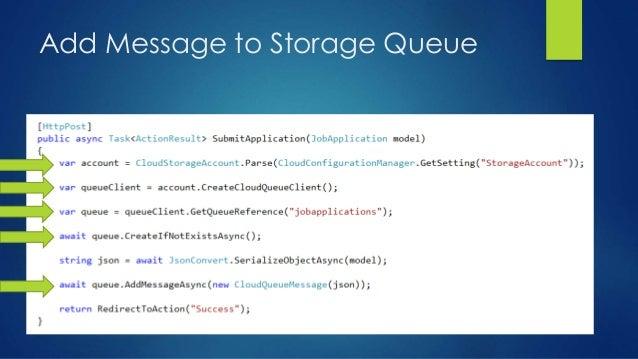 Add Message to Storage Queue