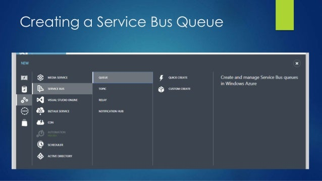 Creating a Service Bus Queue