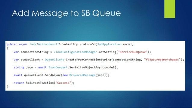 Add Message to SB Queue