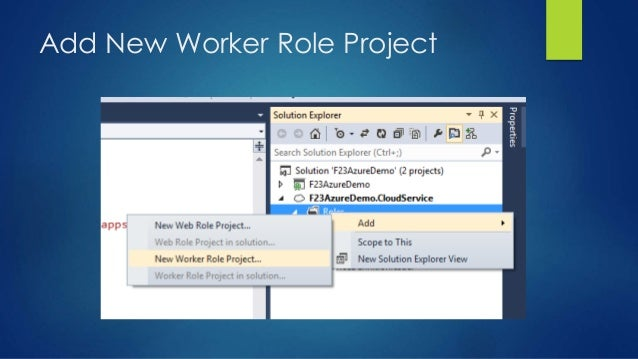 Add New Worker Role Project
