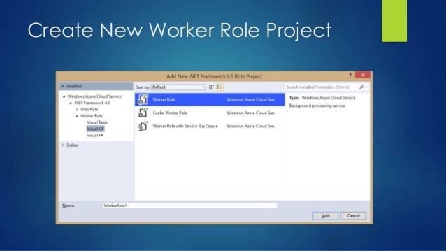 Create New Worker Role Project
