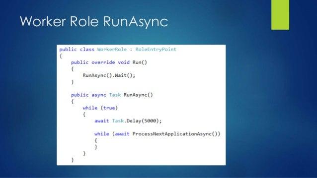 Worker Role RunAsync