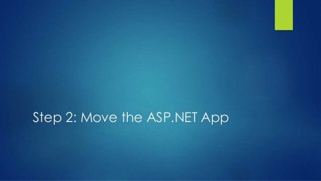 Step 2: Move the ASP.NET App