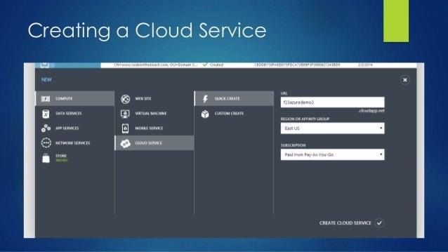 Creating a Cloud Service
