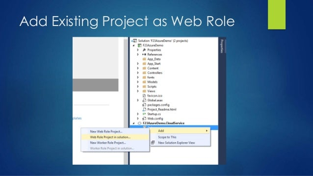 Add Existing Project as Web Role
