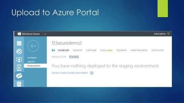 Upload to Azure Portal
